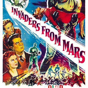 Vintage Sci Fi Alien Invaders by 5pennystudio