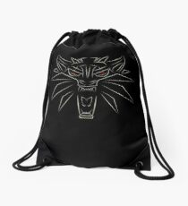 Witcher School of the Wolf Drawstring Bag