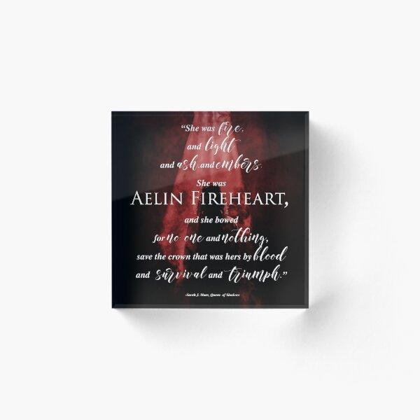Aelin Fireheart 2 Acrylic Block