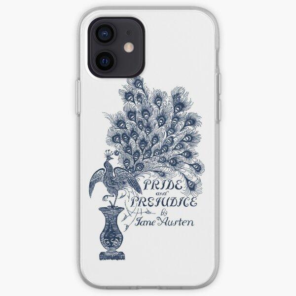 Orgullo y prejuicio de Jane Austen Cubierta de pavo real Funda blanda para iPhone