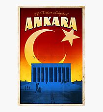 "Vintage travel poster ""Ankara - Anitkabir"" ⛔ HQ quality Photographic Print"