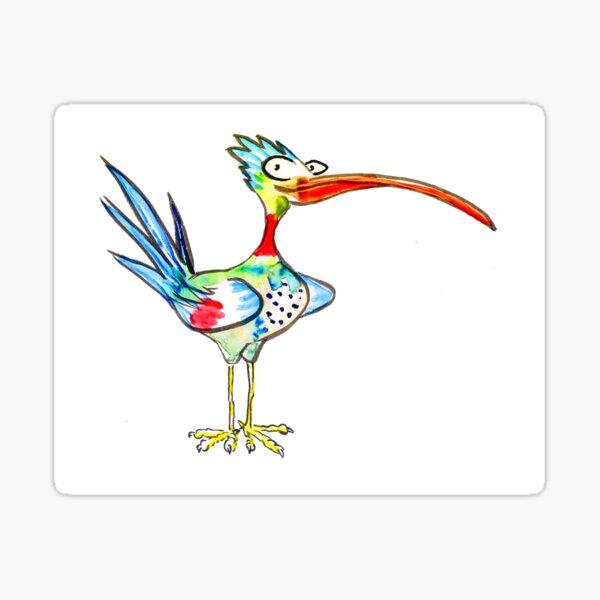 Long beaked bird Sticker