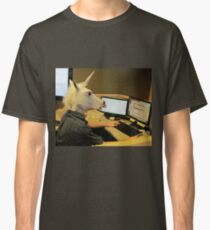 Unicorn in a cubicle #2 - the crushing of the soul Classic T-Shirt