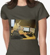 Unicorn in a cubicle #2 - the crushing of the soul Women's Fitted T-Shirt