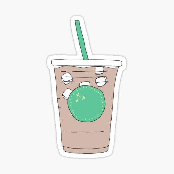 café helado minimalista Pegatina