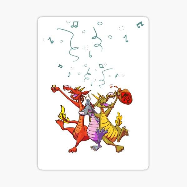 Drunk Dragons Sticker