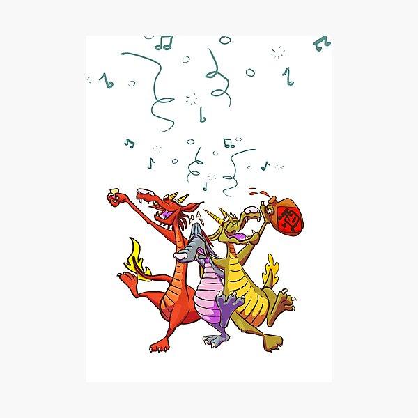 Drunk Dragons Photographic Print