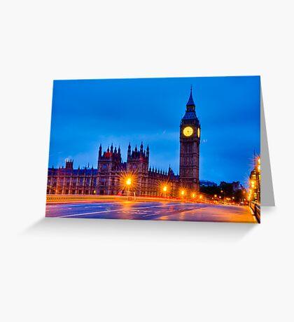 Big Ben By Night / Morning Greeting Card