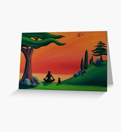 Uji Breathing Greeting Card