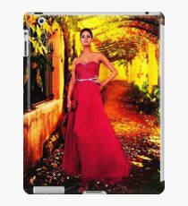 Model In The Garden Fine Art Print iPad Case/Skin