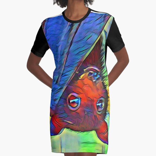 Protect The Bats. Graphic T-Shirt Dress