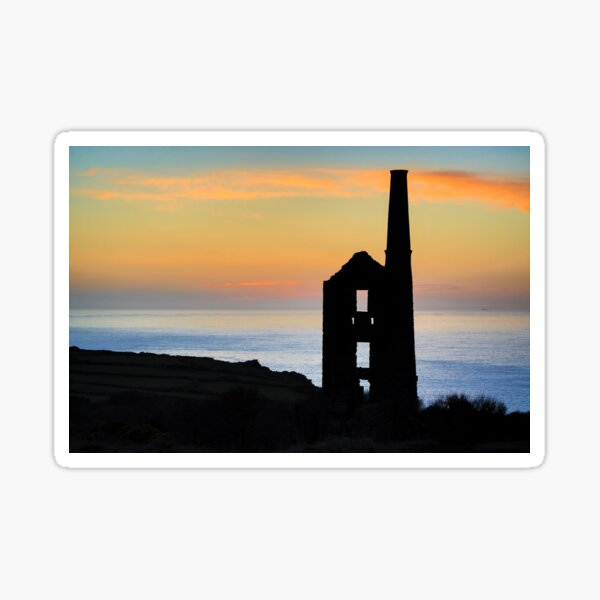 A CORNISH SUNSET Sticker