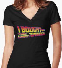 FUTURE SHIRT (Black)  Women's Fitted V-Neck T-Shirt