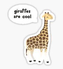 Giraffes are cool Sticker