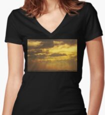 Dispersion Women's Fitted V-Neck T-Shirt