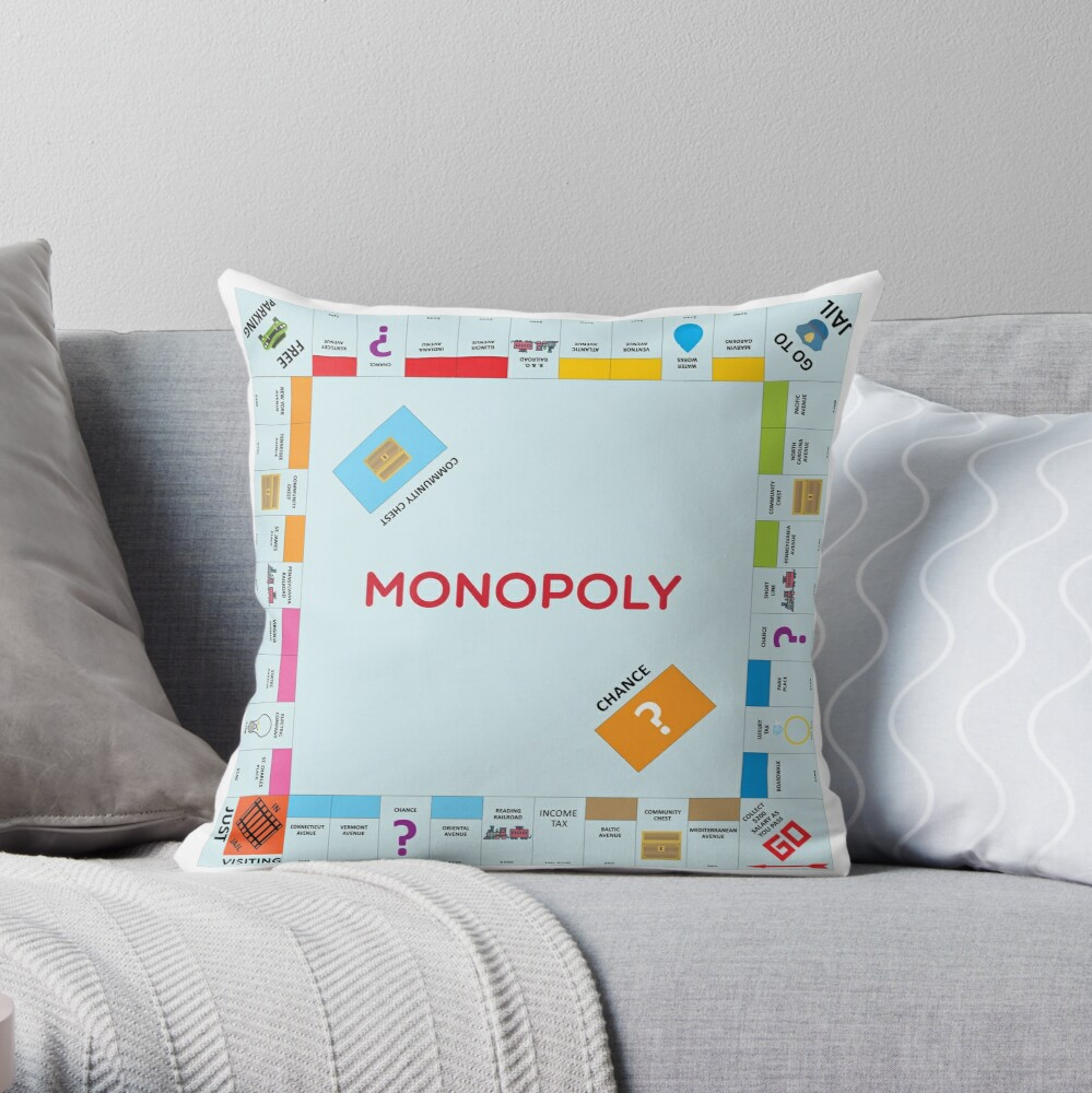 Monopoly Throw Pillow
