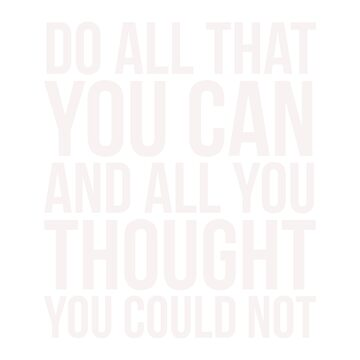 Do All that You can  by litteposterco