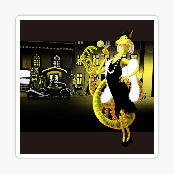 Jazz Age Dragon Sticker