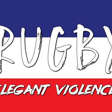 Rugby Elegant Violence France / Bulgaria by ThreeCrowns