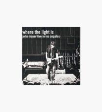 Lámina de exposición John Mayer