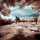 Upleatham Church, infrared by PaulBradley