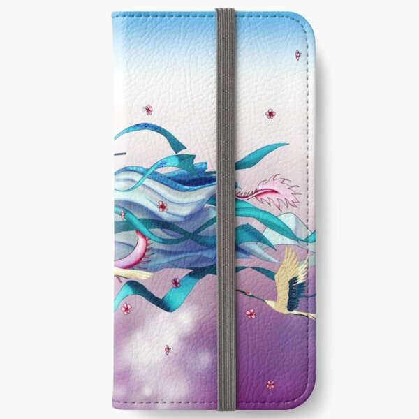 Chinese Dragon Playing a Flute iPhone Wallet