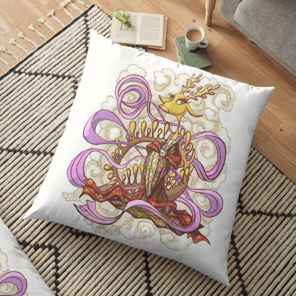 Ginger Dragon Floor Pillow