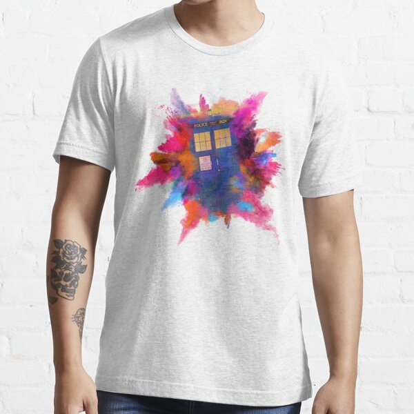 The Tardis - Space-Time Vortex Rupture Essential T-Shirt