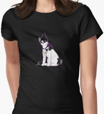 Witch Bobtail Cat Women's Fitted T-Shirt