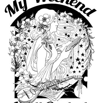 My weekend is all booked t-shirt Girl Reading T Shirt by bledi