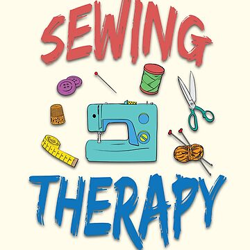 Sewing Therapy Tailor Print by screenworks