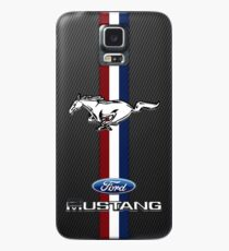 Funda/vinilo para Samsung Galaxy Mustang Emblem Black Carbon