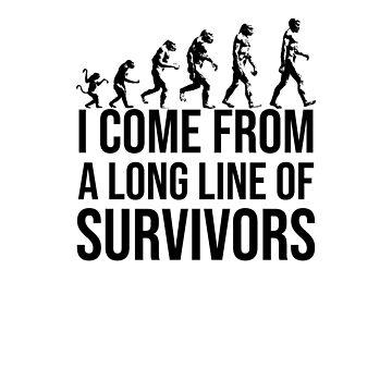 Funny Evolution Survivor Design by gorillamerch