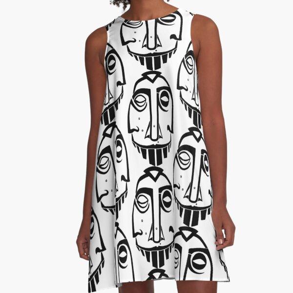 Maske Totem Heilige Dreifaltigkeit A-Linien Kleid