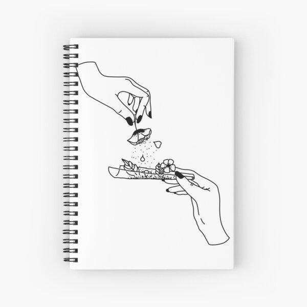 Weed flower Spiral Notebook