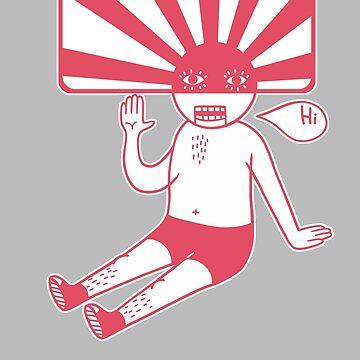 Rising Sun Head (Red) by RYURAKUDO