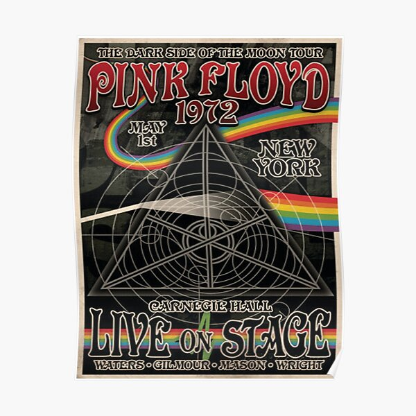 Pink Floyd 10 English Rock Band Poster Music Legends Star Waters Wright Painting