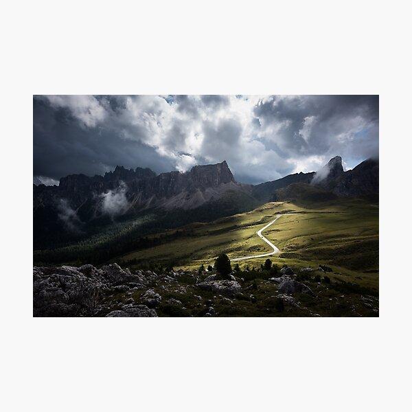 Passo Giau nach einem Gewitter Fotodruck