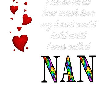 I Never Knew How Much Love My Heart Could Hold... Nan - Black by AmandaMLucas