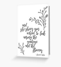 Leonard Cohen Suzanne Greeting Card Greeting Card