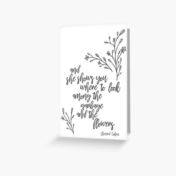 Leonard Cohen Suzanne Greeting Card Greeting Card