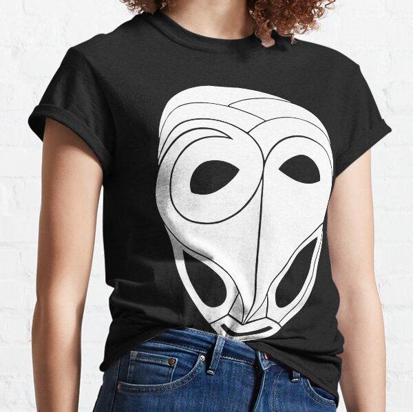 Maske Totem Mumie Weiß Classic T-Shirt