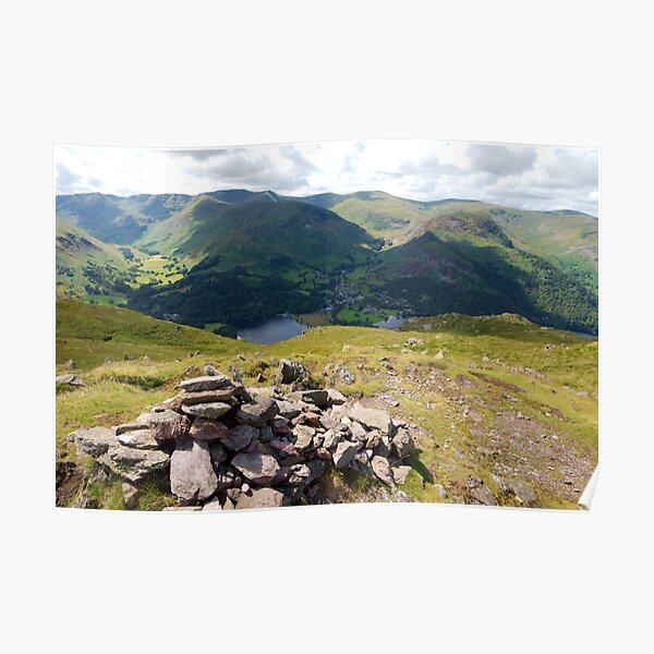 Cairn in the Foreground, Helvellyn behind Poster