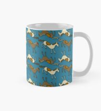 Horsing Around!! Horses Riding Turquoise Blue pattern! Mug