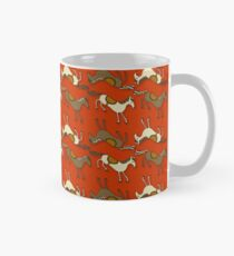 Horsing Around!! Horses Riding FIRE RED pattern! Mug