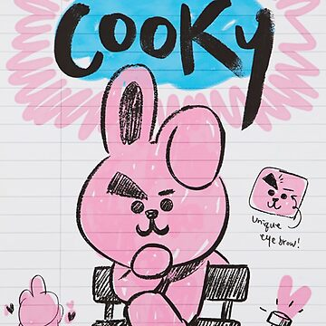 BTS - BT21 - COOKY doodle note by Red-One48