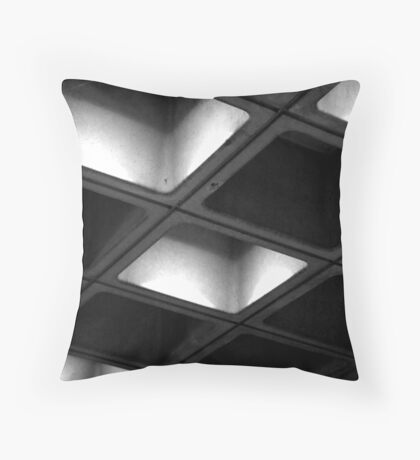 Lit Roofing Throw Pillow