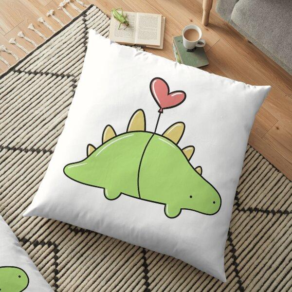 Cute Baby Balloon Dinosaur (Stegosaurus) Floor Pillow