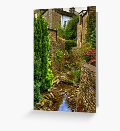 Village Stream - Dent. Greeting Card