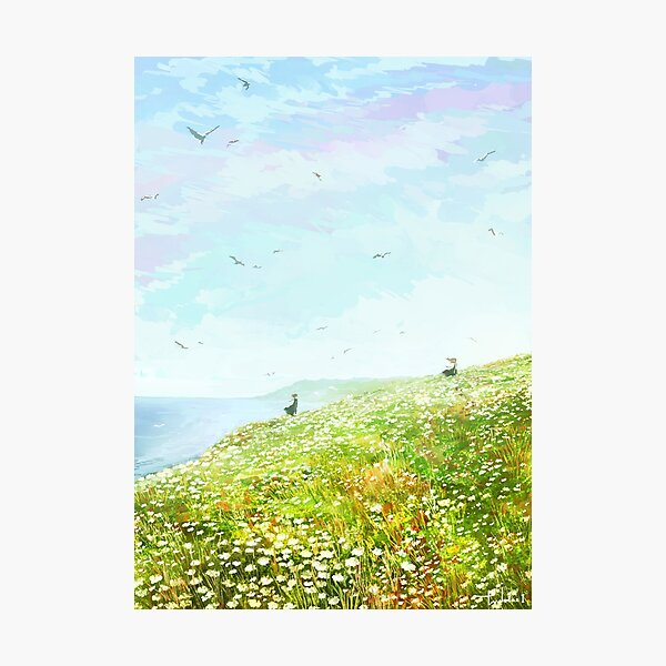 Flowers blooming in the sea Photographic Print